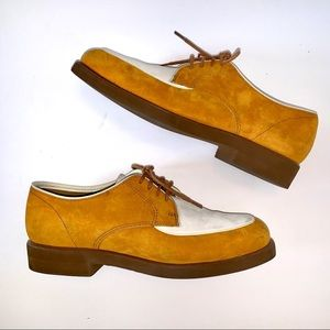 Hush puppies suede women's shoes two tone Sz 7.5